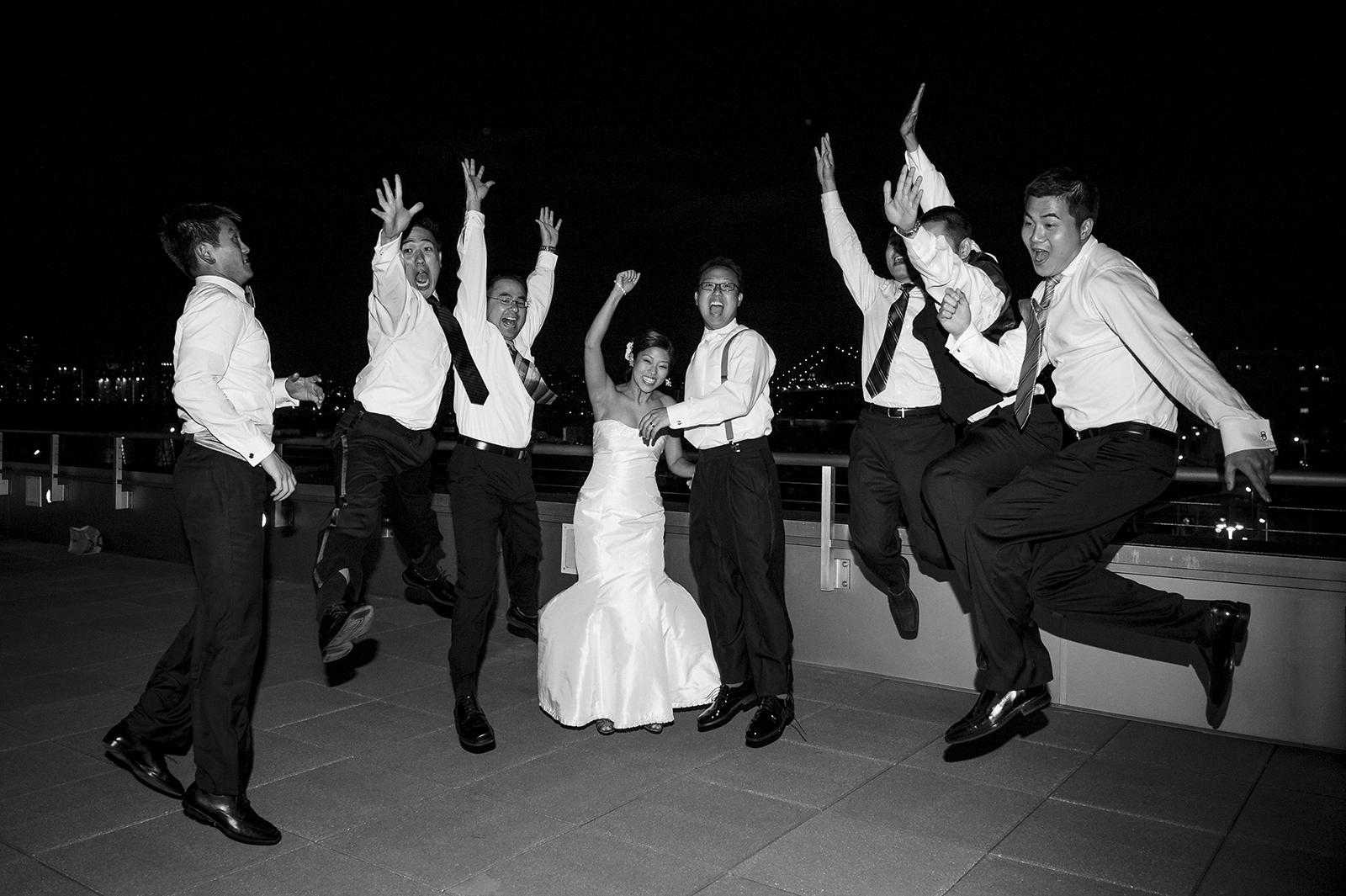Stage 6 at Steiner Studios Wedding in Brooklyn, NY jumping