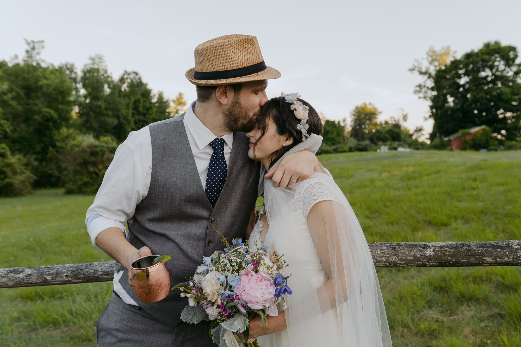 Publick House Historic Inn Wedding Portrait