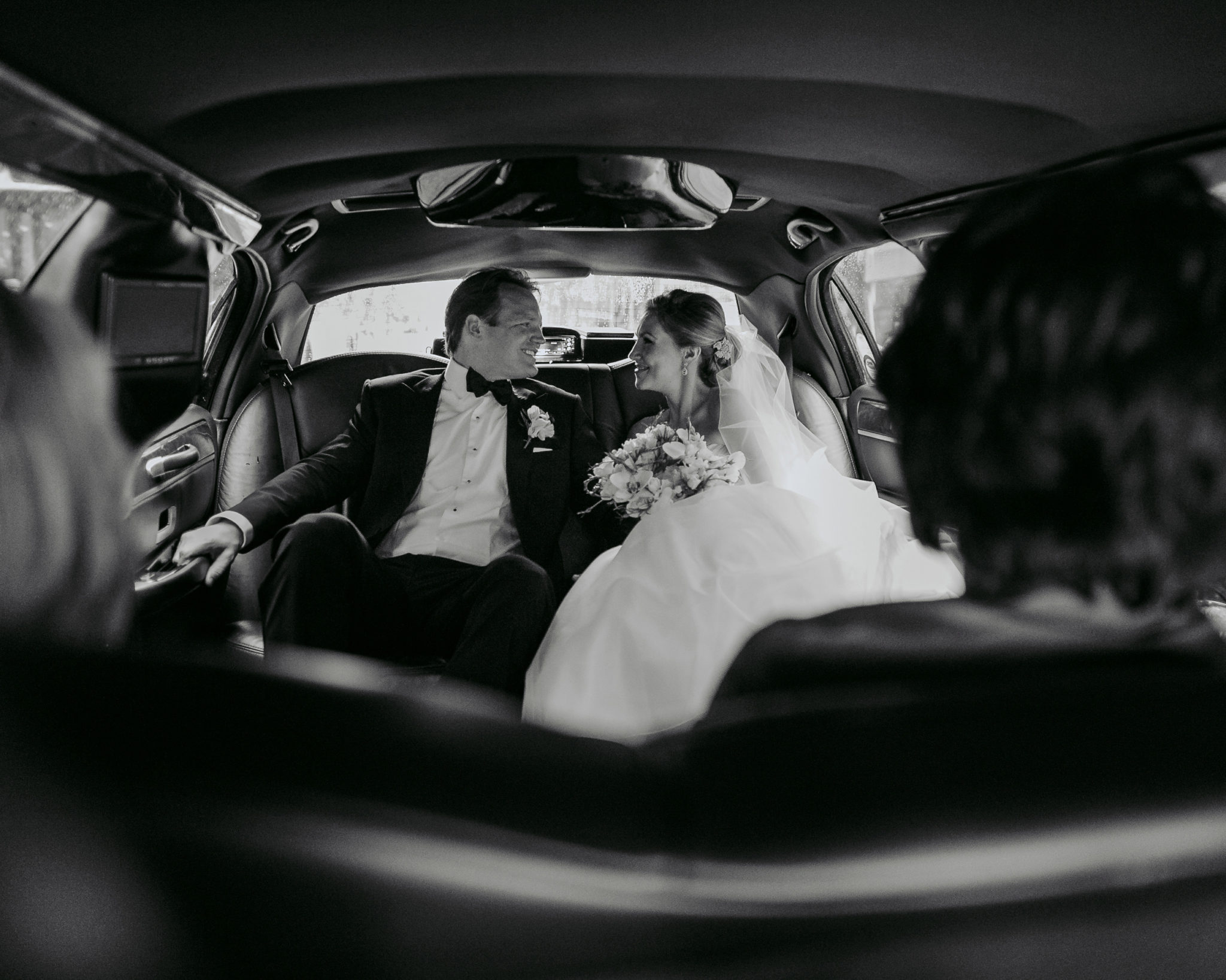 Bride and groom limo NYC