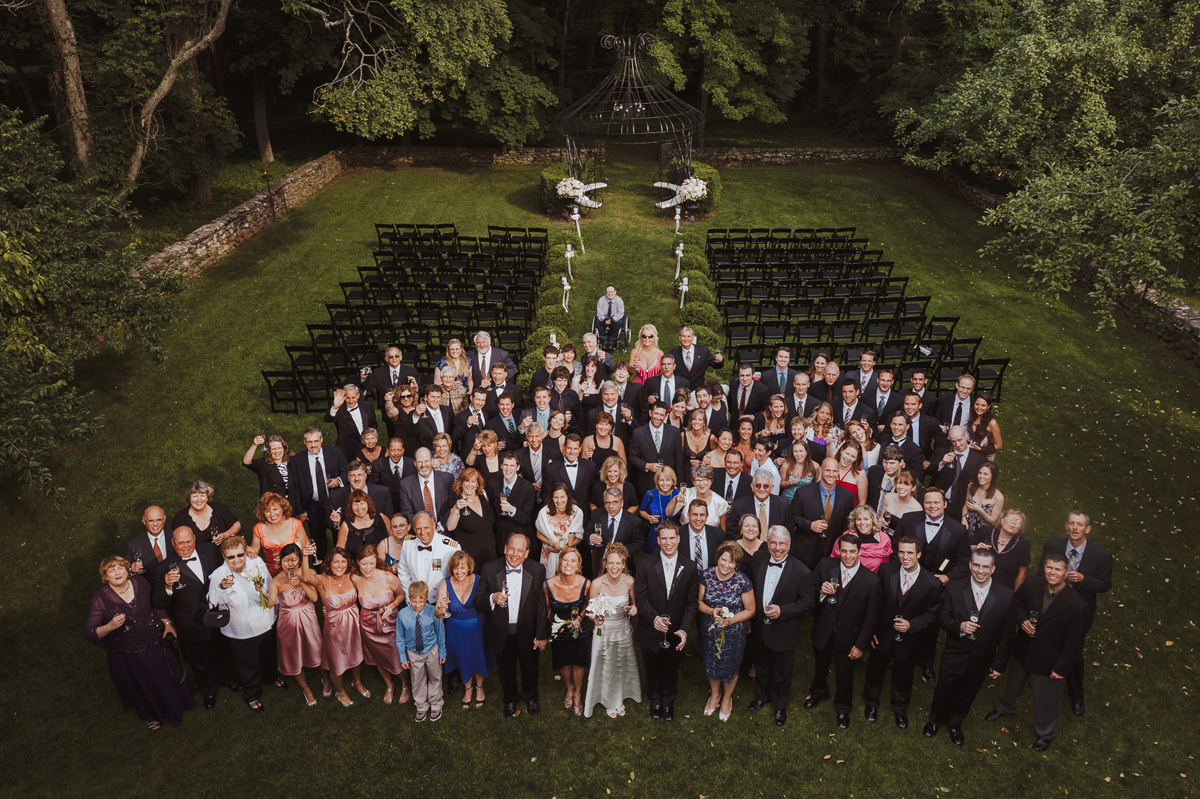 Lord Thompson Manor Wedding Group Photo