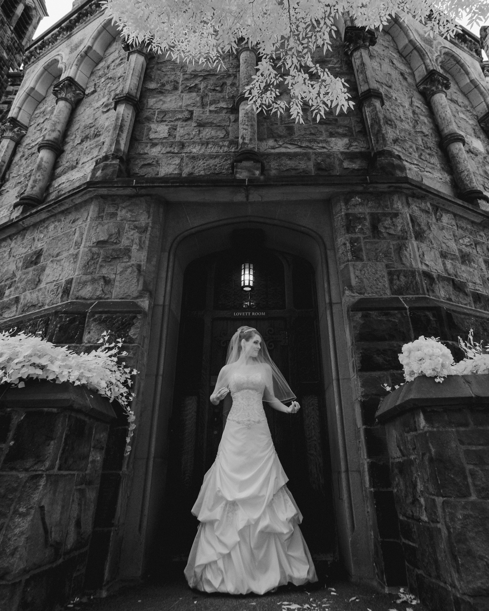 Yale New Haven Infrared Wedding Image