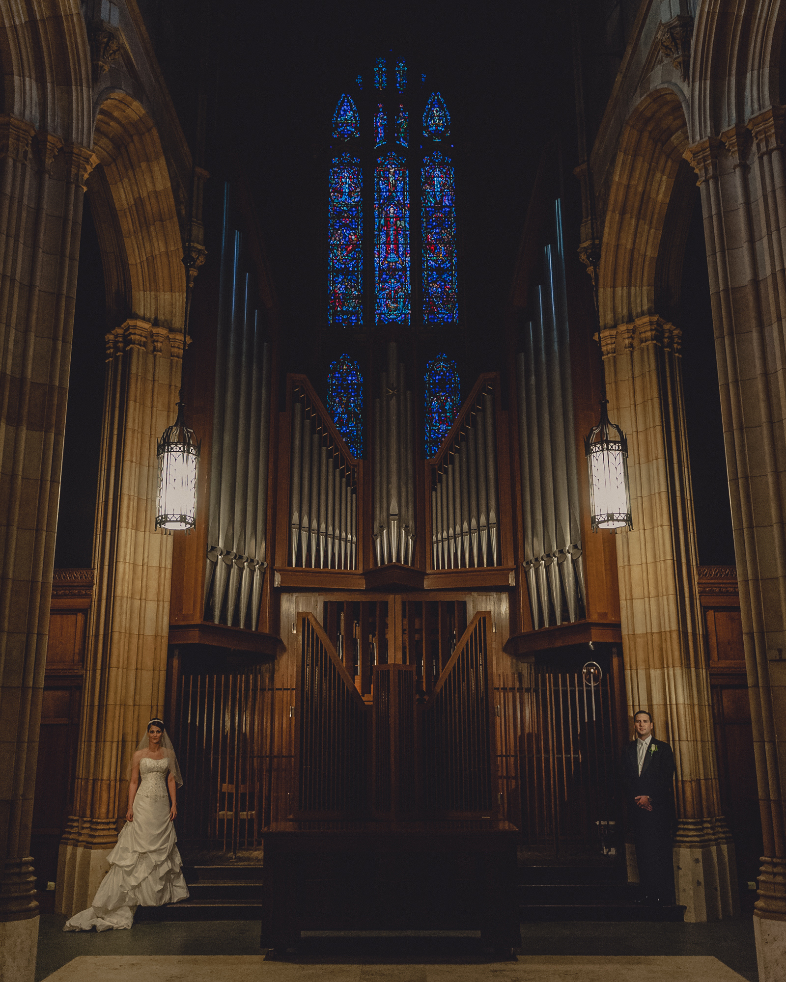 Battell Chapel Chapel, Yale University Wedding Portrait