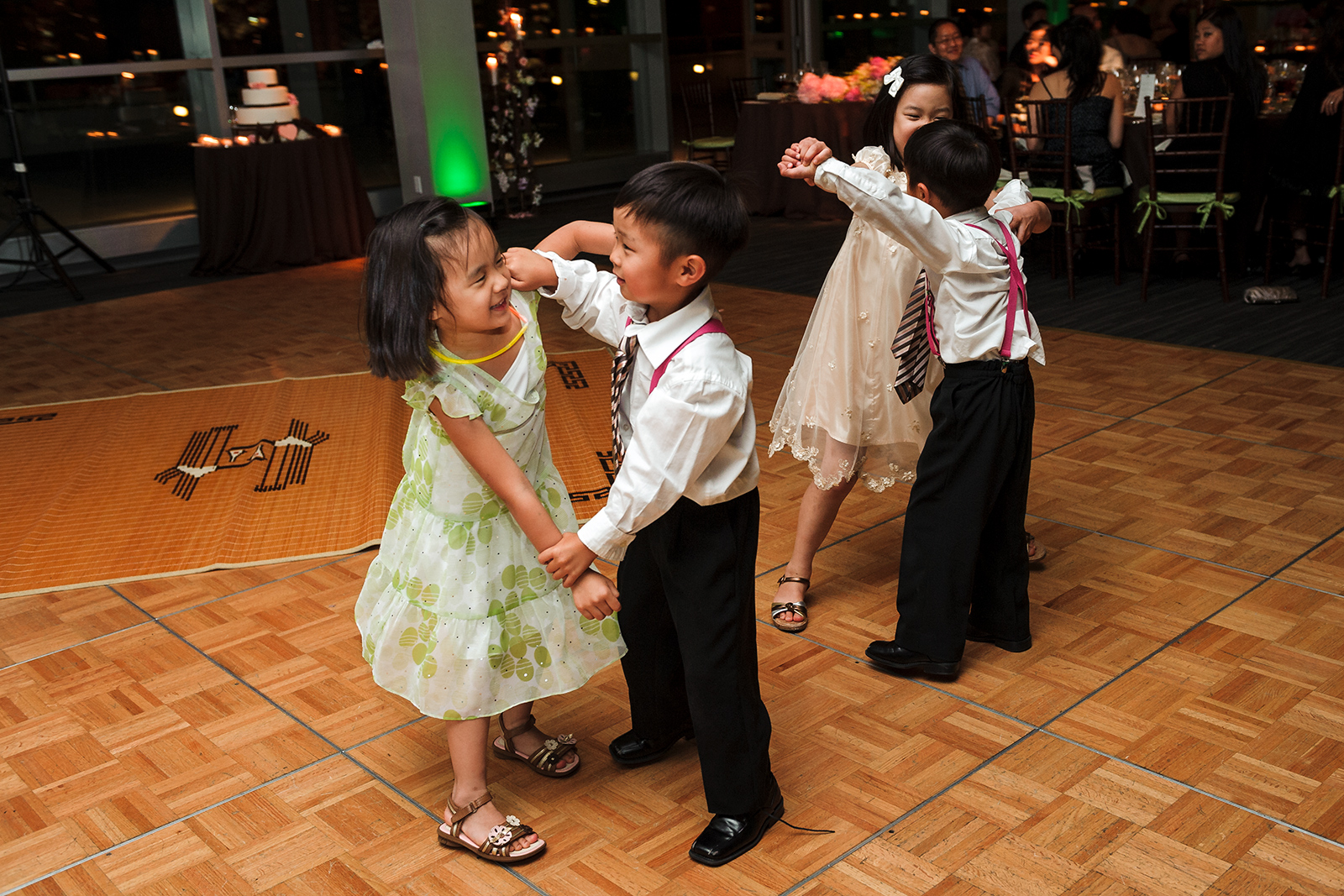 Stage 6 at Steiner Studios Wedding in Brooklyn, NY kids dancing