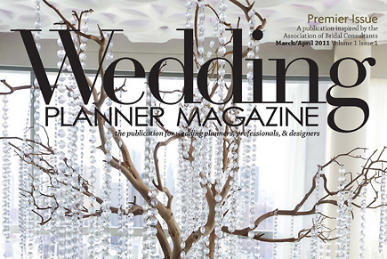 Trump SOHO Wedding Premier Issue of Wedding Planner Magazine Cover and Story Images