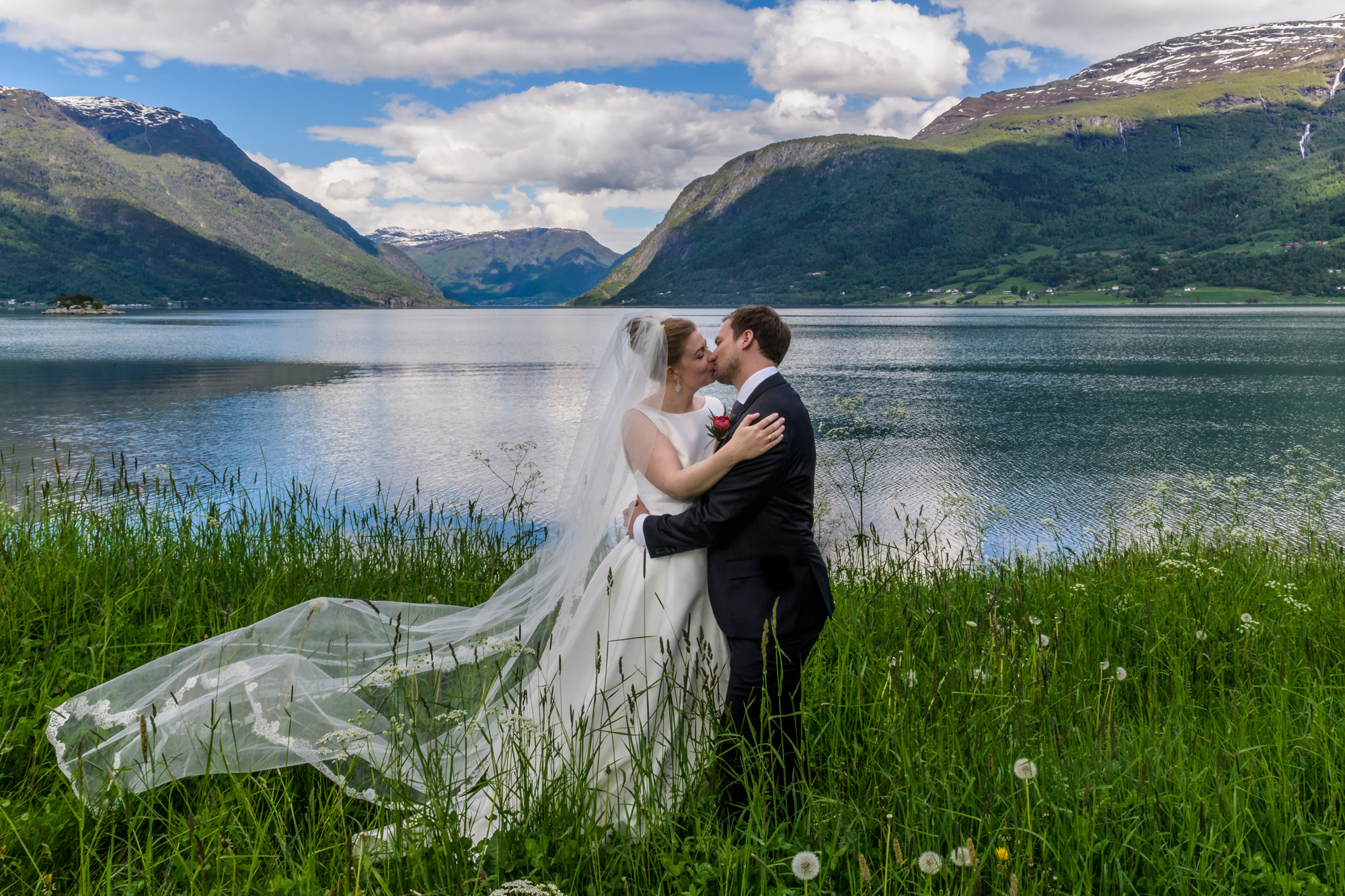 Norwegian Fjord Wedding Portrait