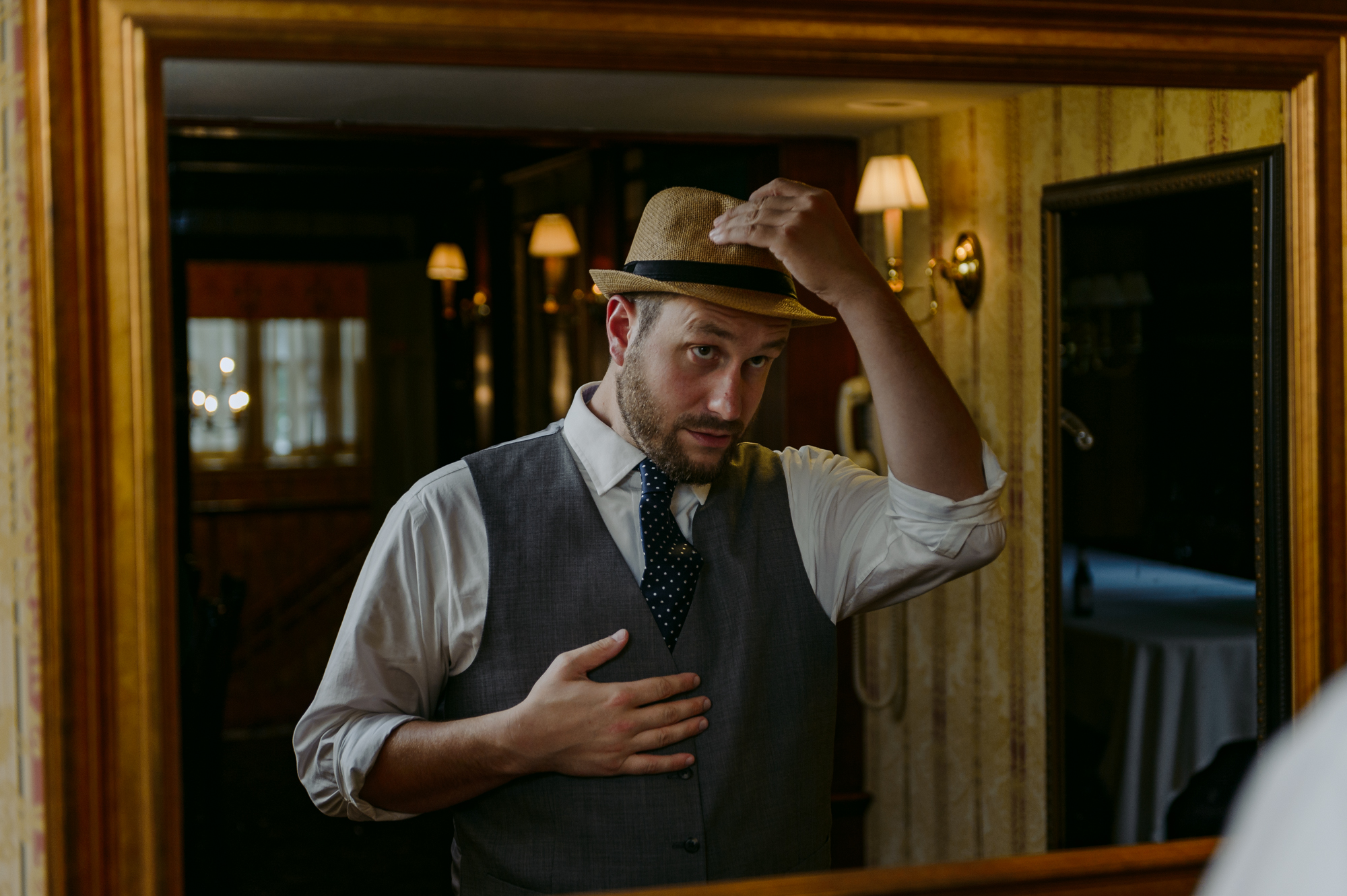 Publick House Historic Inn Wedding Groom prep