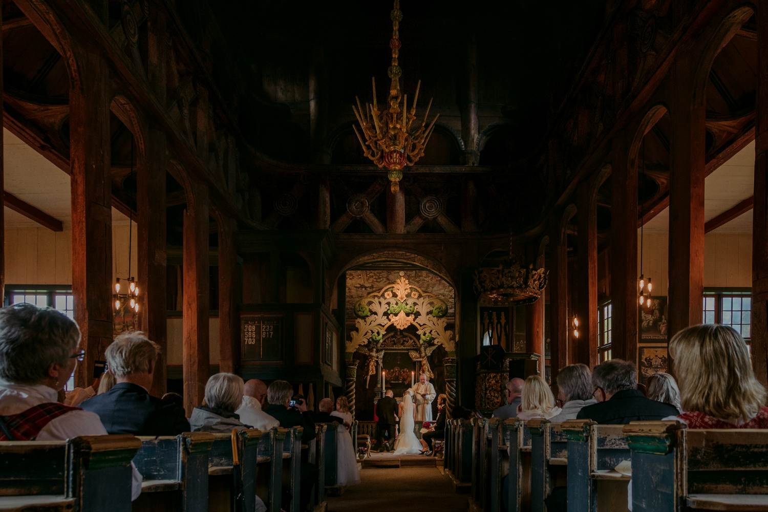 Lom Stave Church Wedding ceremony