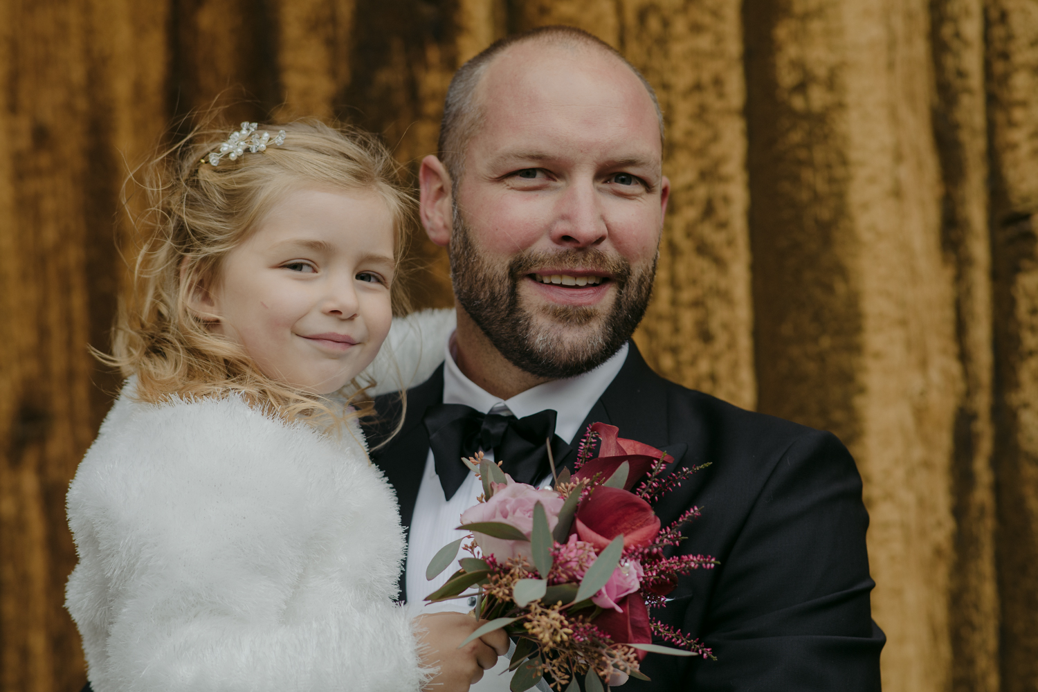 Lom Stave Church Wedding groom with daughter