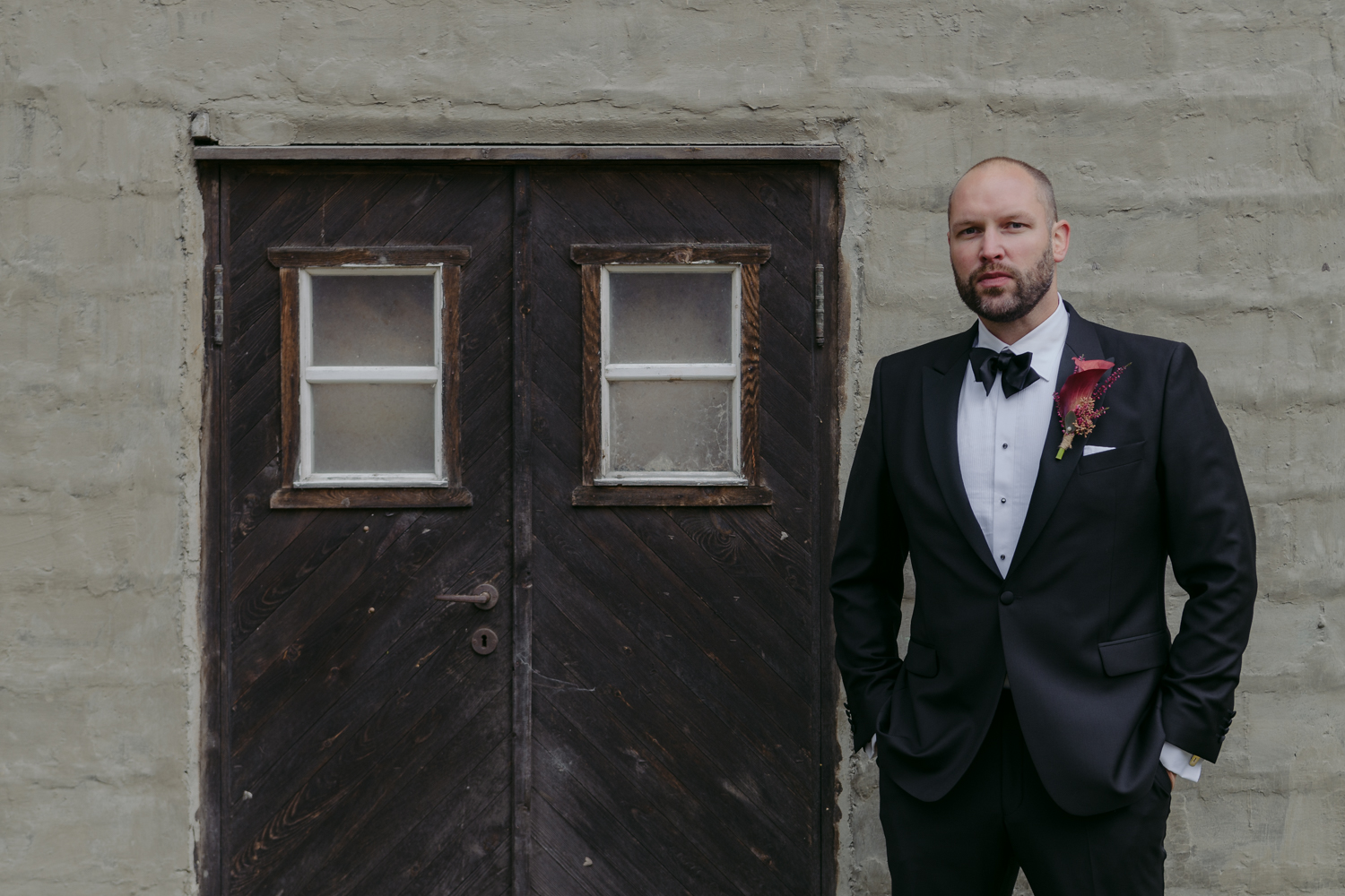 Norwegian wedding badass groom