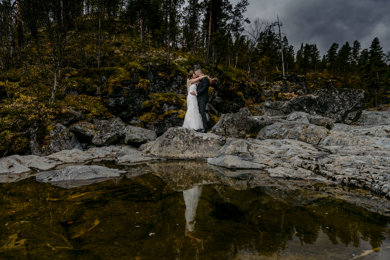 Norwegian wedding portrait