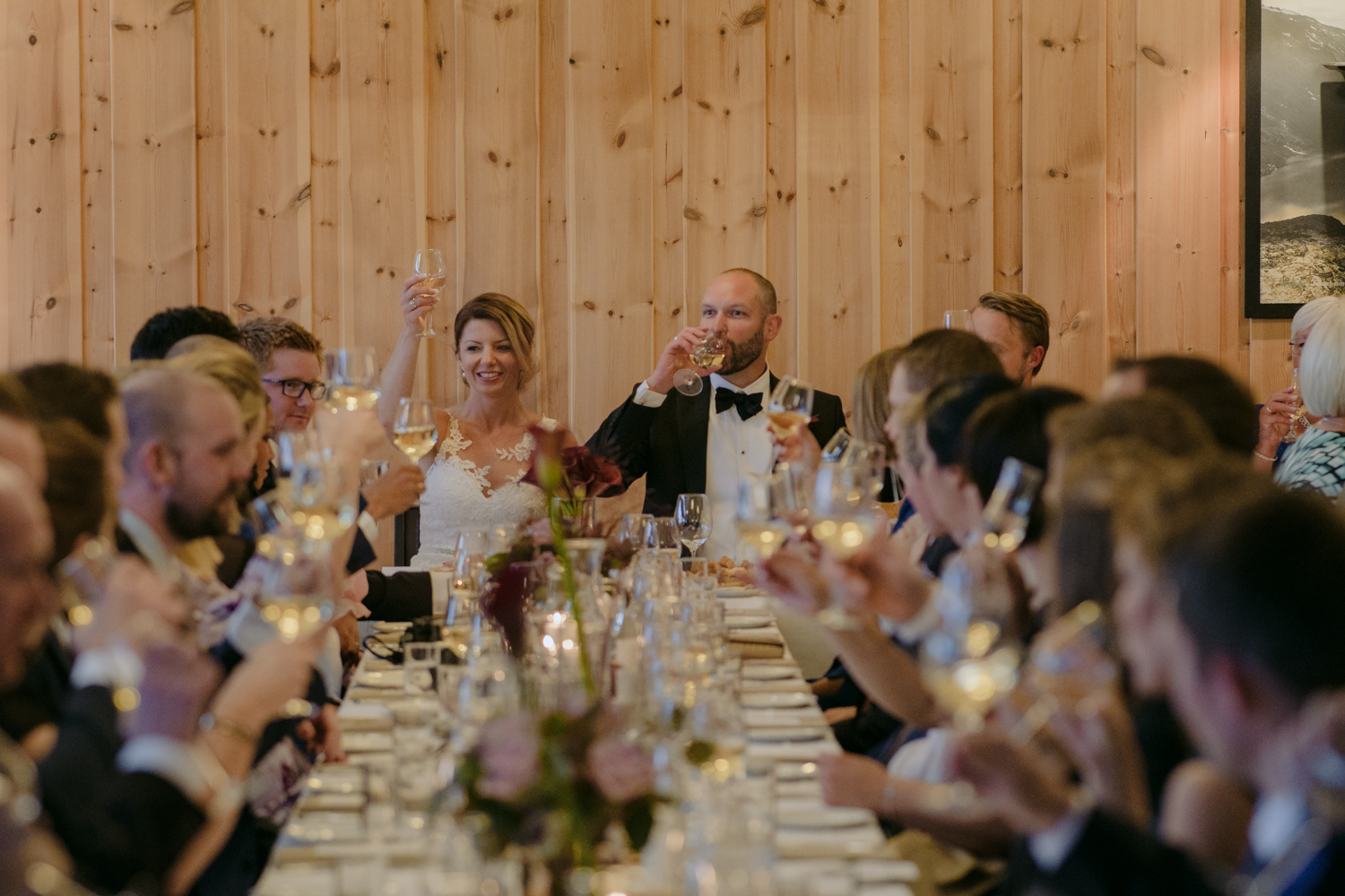 Bessheim Mountain Lodge Wedding toast