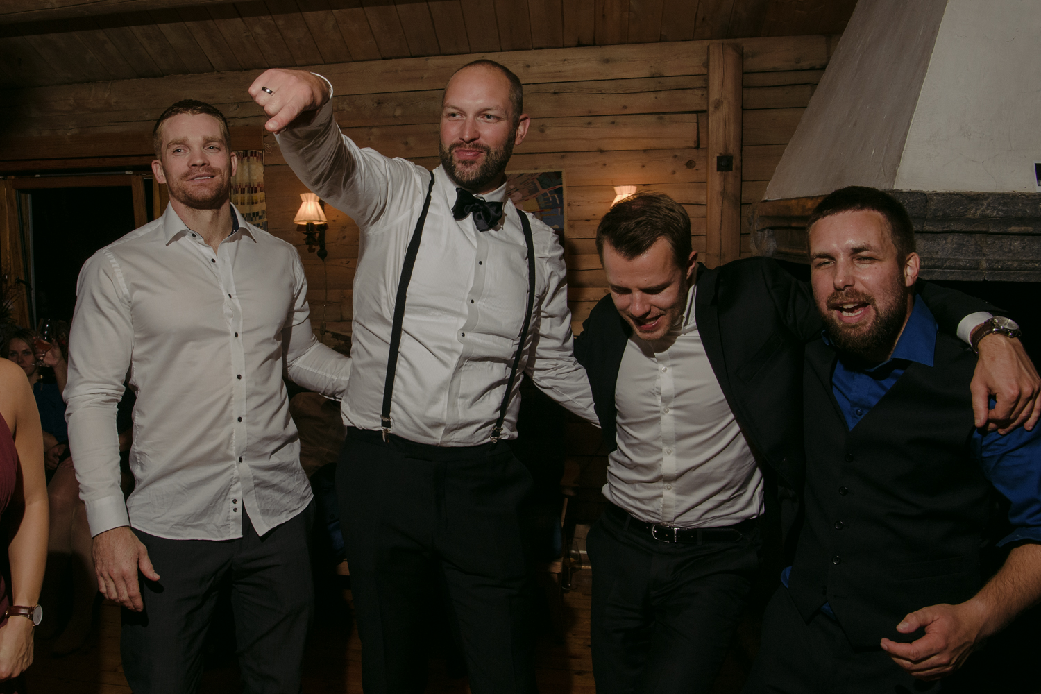 Norwegian Wedding groom with friends