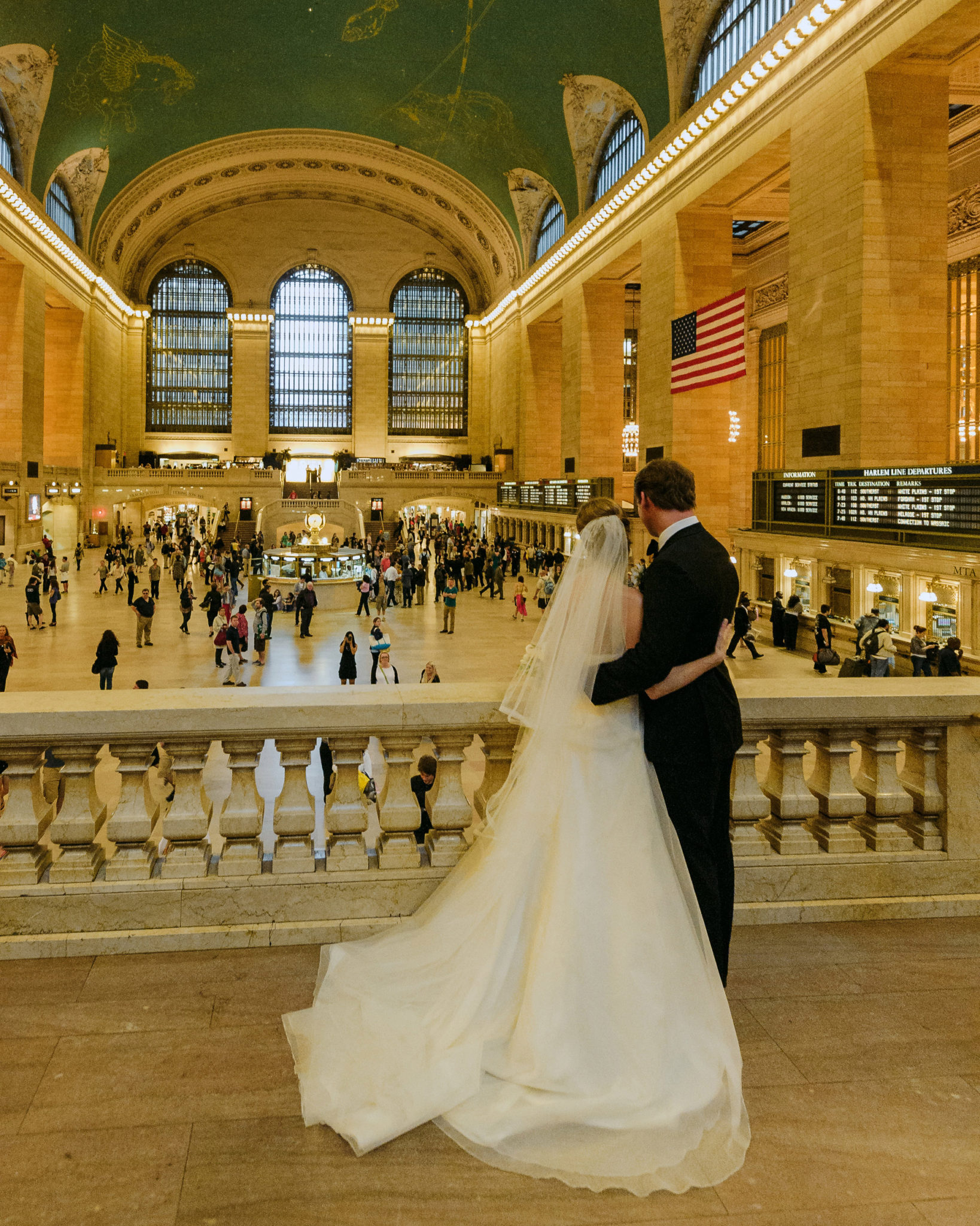 Grand Central Wedding Day Portraits