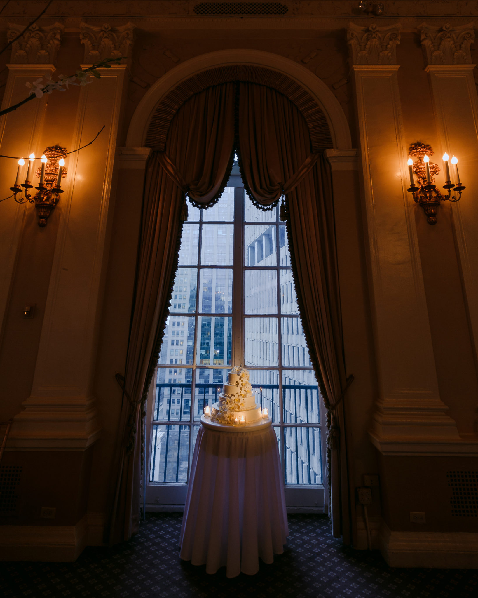 Yale Club NYC Wedding Cake