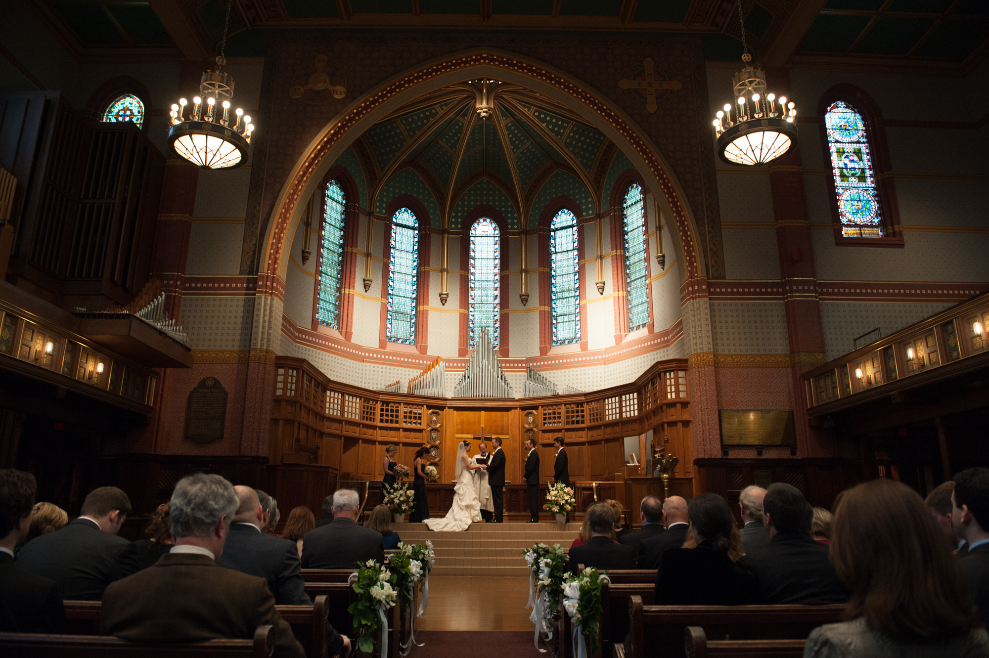 Battell Chapel Yale University, New Haven Connecticut Wedding Ceremony