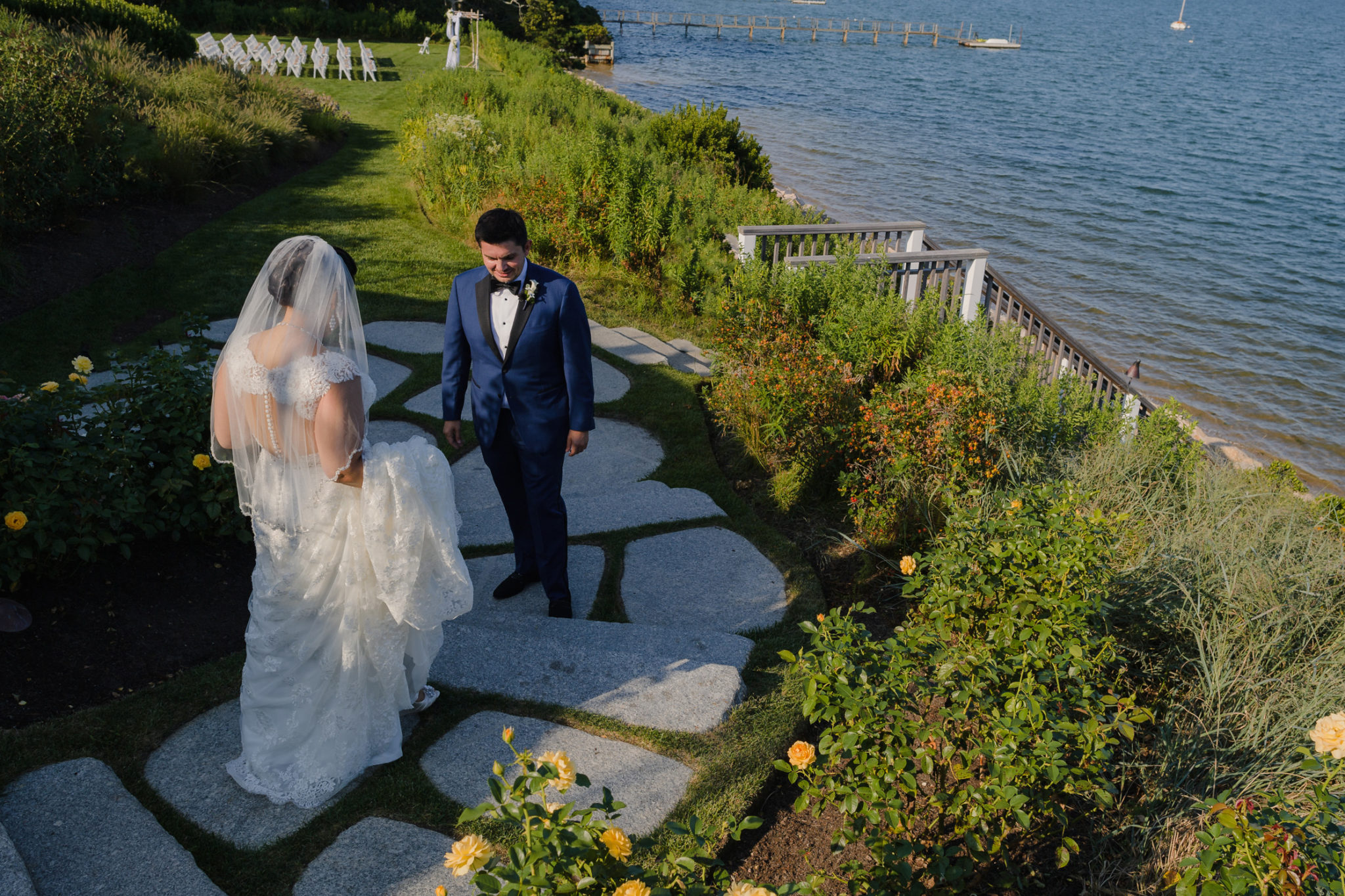 Wequassett Resort Wedding first look