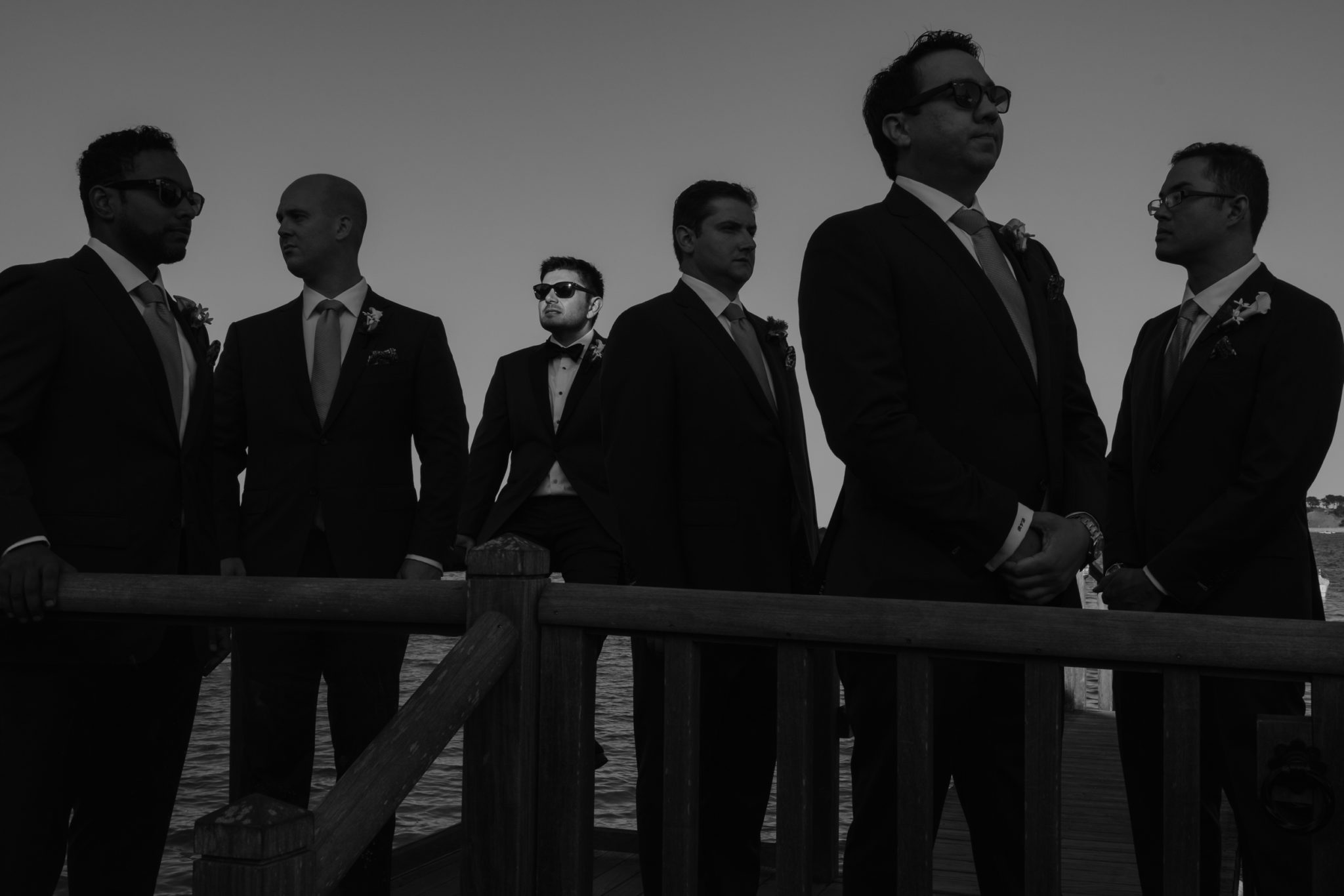 Wequassett Resort Wedding groomsmen portrait