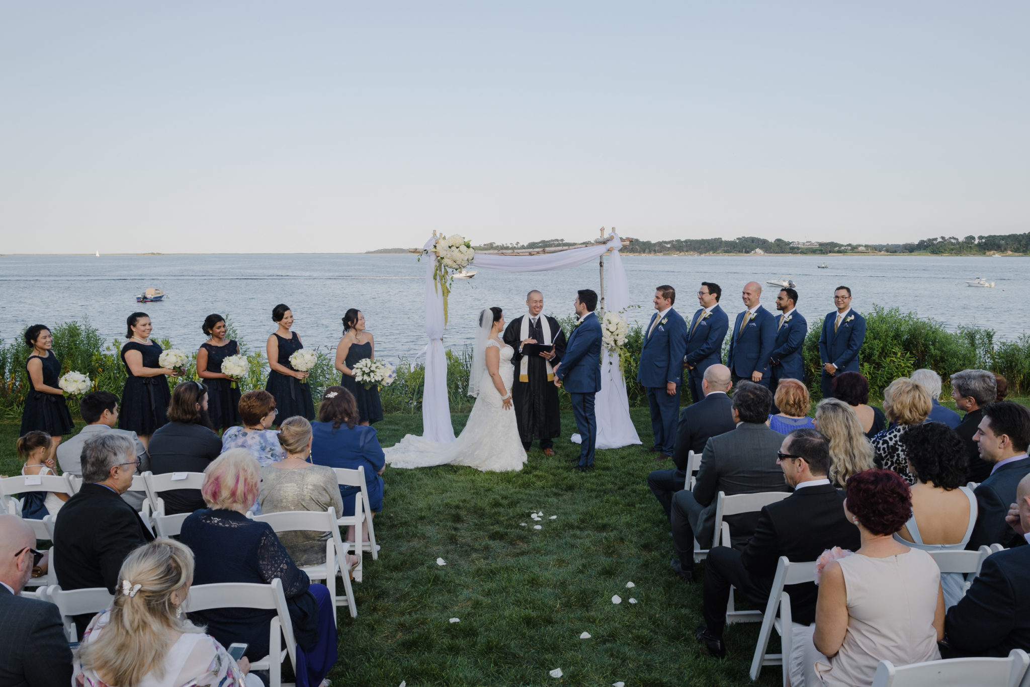 Wequassett Resort Wedding ceremony outdoors