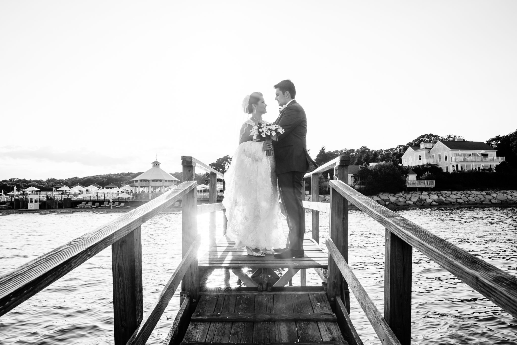 Wequassett Resort Wedding pier portrait